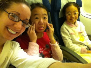 Flight buddies being silly!